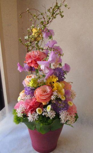花ギフト|フラワーギフト|誕生日 花|カノシェ話題|スタンド花|ウエディングブーケ|花束|花屋|54483
