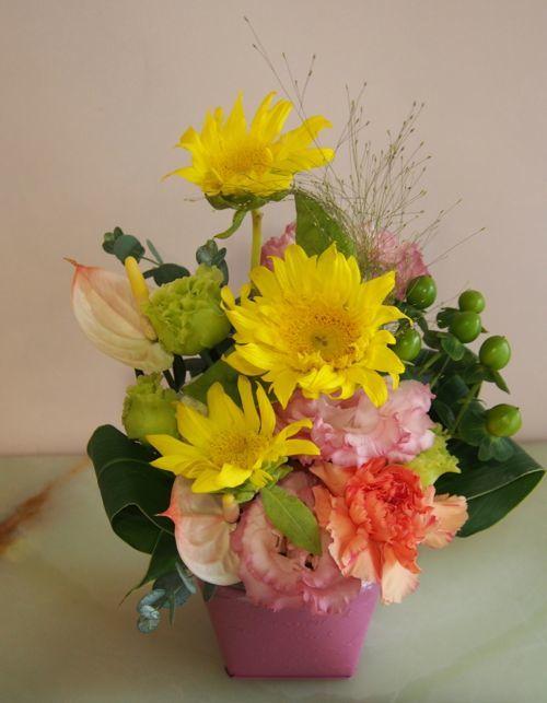 花ギフト|フラワーギフト|誕生日 花|カノシェ話題|スタンド花|ウエディングブーケ|花束|花屋|57609