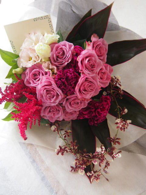 花ギフト フラワーギフト 誕生日 花 カノシェ話題 スタンド花 ウエディングブーケ 花束 花屋 49489