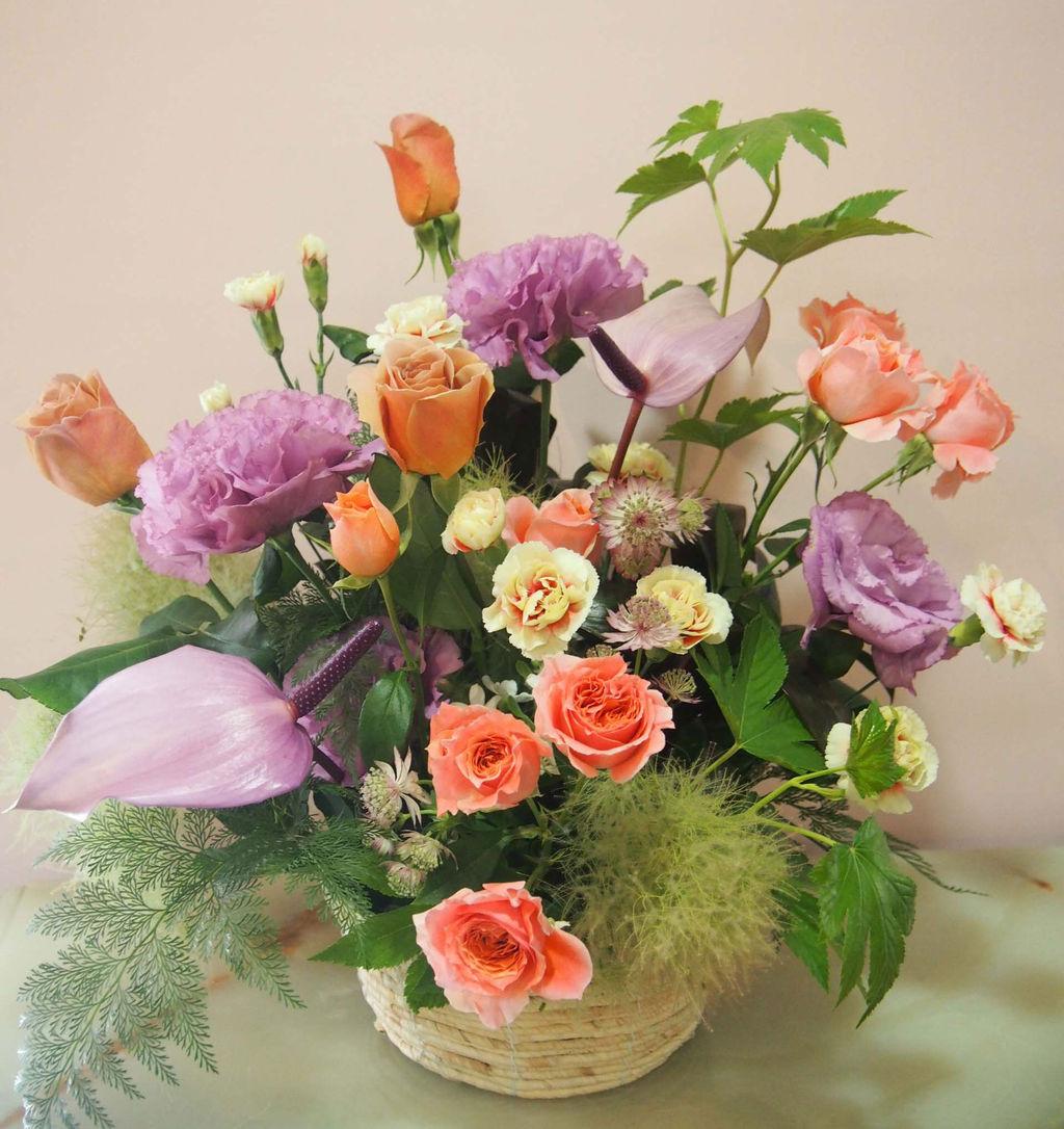 花ギフト|フラワーギフト|誕生日 花|カノシェ話題|スタンド花|ウエディングブーケ|花束|花屋|56308