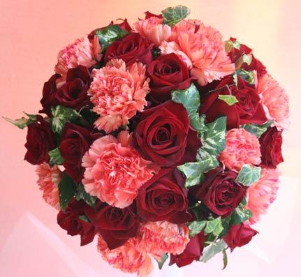 花ギフト|フラワーギフト|誕生日 花|カノシェ話題|スタンド花|ウエディングブーケ|花束|花屋|0306RED