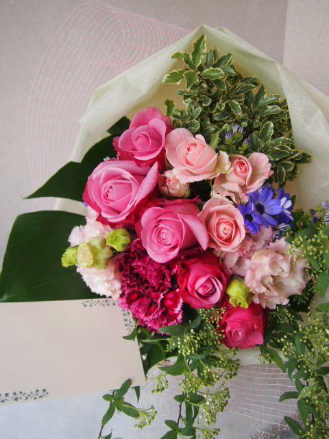 花ギフト|フラワーギフト|誕生日 花|カノシェ話題|スタンド花|ウエディングブーケ|花束|花屋|53464