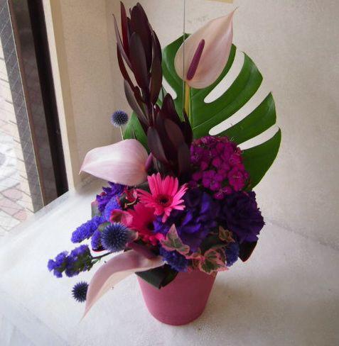 花ギフト|フラワーギフト|誕生日 花|カノシェ話題|スタンド花|ウエディングブーケ|花束|花屋|57163