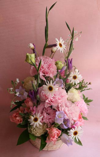 花ギフト フラワーギフト 誕生日 花 カノシェ話題 スタンド花 ウエディングブーケ 花束 花屋 teiki48-1