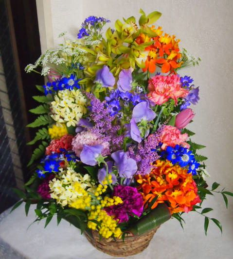 花ギフト|フラワーギフト|誕生日 花|カノシェ話題|スタンド花|ウエディングブーケ|花束|花屋|54150