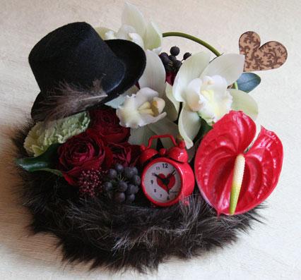 花ギフト フラワーギフト 誕生日 花 カノシェ話題 スタンド花 ウエディングブーケ 花束 花屋 rock