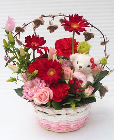 花ギフト|フラワーギフト|誕生日 花|カノシェ話題|スタンド花|ウエディングブーケ|花束|花屋|2016_haha_a1