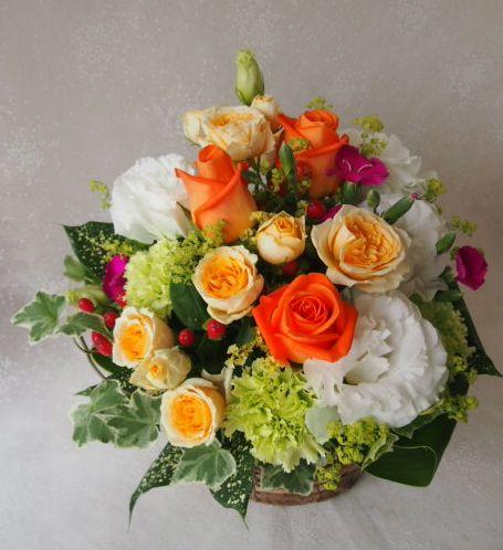 花ギフト|フラワーギフト|誕生日 花|カノシェ話題|スタンド花|ウエディングブーケ|花束|花屋|48587