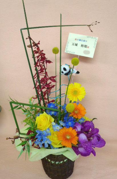 花ギフト|フラワーギフト|誕生日 花|カノシェ話題|スタンド花|ウエディングブーケ|花束|花屋|パンダ2