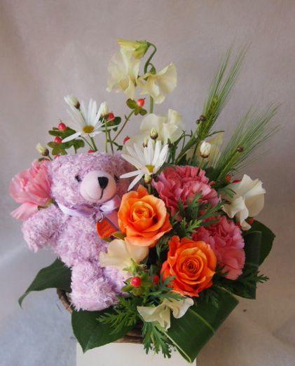 花ギフト|フラワーギフト|誕生日 花|カノシェ話題|スタンド花|ウエディングブーケ|花束|花屋|45496