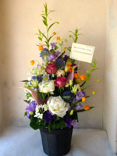 花ギフト|フラワーギフト|誕生日 花|カノシェ話題|スタンド花|ウエディングブーケ|花束|花屋|55576
