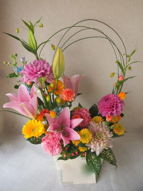 花ギフト|フラワーギフト|誕生日 花|カノシェ話題|スタンド花|ウエディングブーケ|花束|花屋|55994