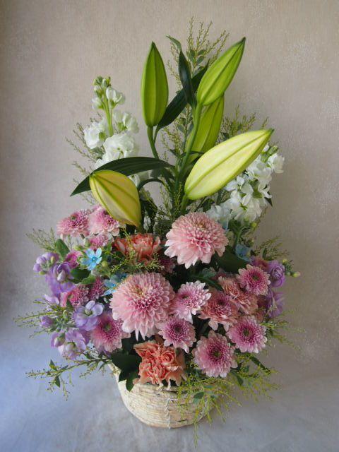 花ギフト|フラワーギフト|誕生日 花|カノシェ話題|スタンド花|ウエディングブーケ|花束|花屋|52006