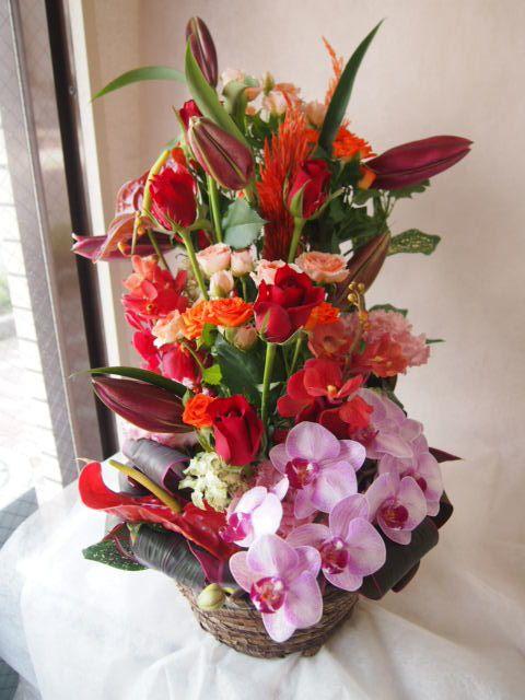 花ギフト|フラワーギフト|誕生日 花|カノシェ話題|スタンド花|ウエディングブーケ|花束|花屋|41682