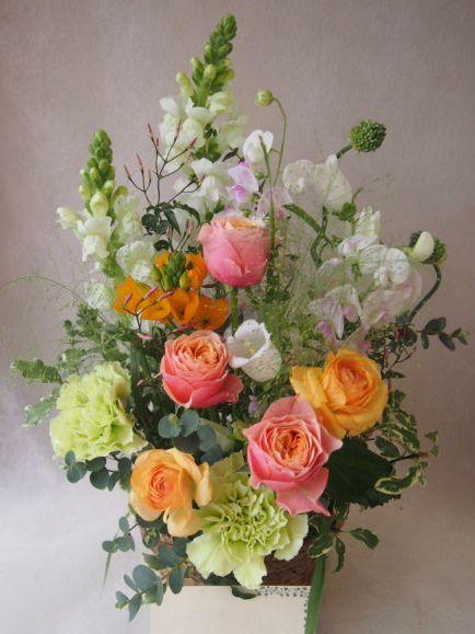 花ギフト|フラワーギフト|誕生日 花|カノシェ話題|スタンド花|ウエディングブーケ|花束|花屋|47040