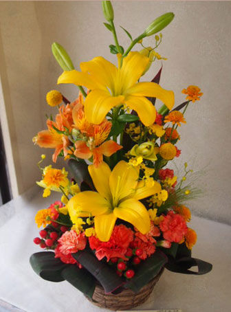 花ギフト|フラワーギフト|誕生日 花|カノシェ話題|スタンド花|ウエディングブーケ|花束|花屋|56609