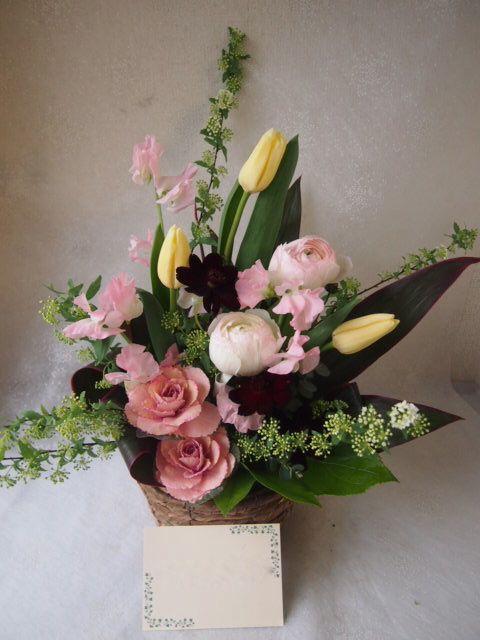花ギフト|フラワーギフト|誕生日 花|カノシェ話題|スタンド花|ウエディングブーケ|花束|花屋|53552