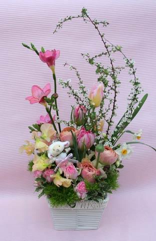 花ギフト フラワーギフト 誕生日 花 カノシェ話題 スタンド花 ウエディングブーケ 花束 花屋 ひつじ