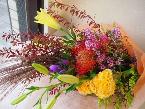 花ギフト|フラワーギフト|誕生日 花|カノシェ話題|スタンド花|ウエディングブーケ|花束|花屋|58168