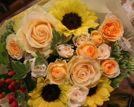 花ギフト|フラワーギフト|誕生日 花|カノシェ話題|スタンド花|ウエディングブーケ|花束|花屋|ひまわりブーケ