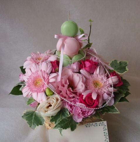 花ギフト|フラワーギフト|誕生日 花|カノシェ話題|スタンド花|ウエディングブーケ|花束|花屋|43308