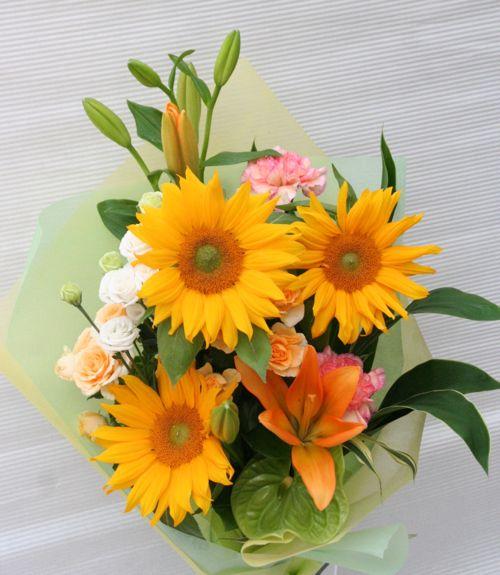 花ギフト|フラワーギフト|誕生日 花|カノシェ話題|スタンド花|ウエディングブーケ|花束|花屋|2015_father_b(1)