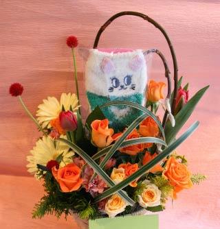 花ギフト フラワーギフト 誕生日 花 カノシェ話題 スタンド花 ウエディングブーケ 花束 花屋 まさみねこ