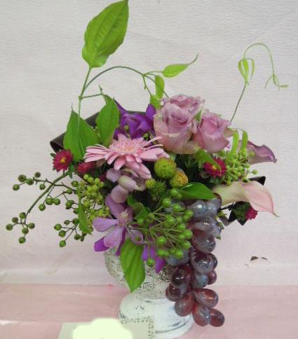 花ギフト|フラワーギフト|誕生日 花|カノシェ話題|スタンド花|ウエディングブーケ|花束|花屋|ぶどう