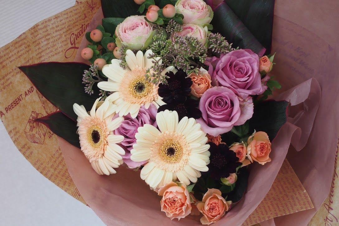 花ギフト|フラワーギフト|誕生日 花|カノシェ話題|スタンド花|ウエディングブーケ|花束|花屋|aut_b_1