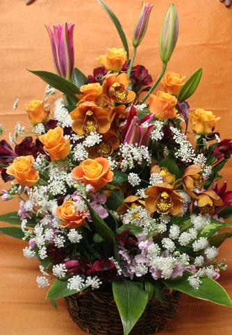花ギフト フラワーギフト 誕生日 花 カノシェ話題 スタンド花 ウエディングブーケ 花束 花屋 茶色シンビ
