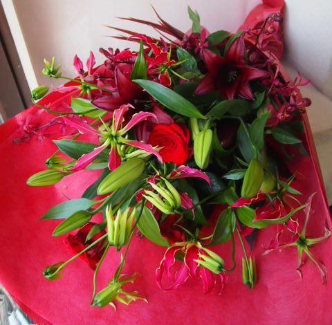 花ギフト|フラワーギフト|誕生日 花|カノシェ話題|スタンド花|ウエディングブーケ|花束|花屋|40727