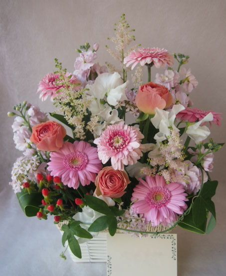 花ギフト|フラワーギフト|誕生日 花|カノシェ話題|スタンド花|ウエディングブーケ|花束|花屋|46376