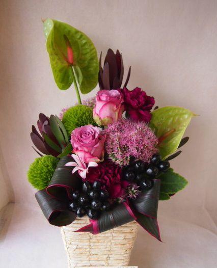 花ギフト フラワーギフト 誕生日 花 カノシェ話題 スタンド花 ウエディングブーケ 花束 花屋 42591