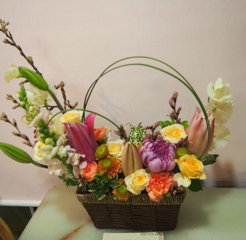 花ギフト|フラワーギフト|誕生日 花|カノシェ話題|スタンド花|ウエディングブーケ|花束|花屋|54524