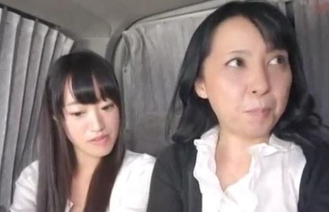 [人妻ナンパ] 買い物中の母娘をナンパ!Hなアンケートをきっかけに母親と生挿入中出し