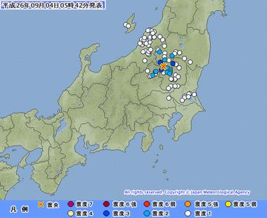 地震 栃木県北部 群発地震
