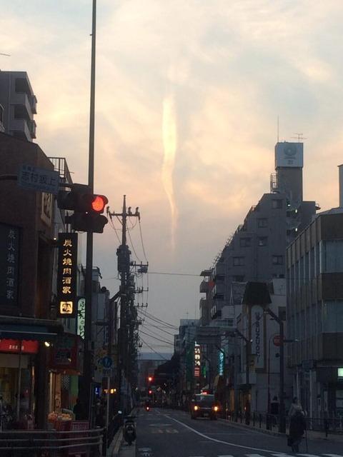 地震雲 2014年3月4日