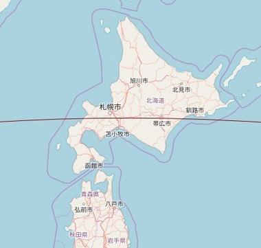 中国の天宮1号通過画像3