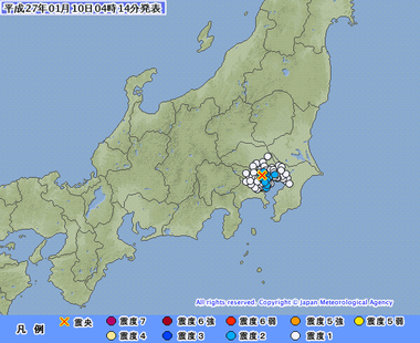 地震 東京23区