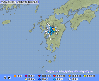 熊本県熊本地方 地震 画像 201606292314
