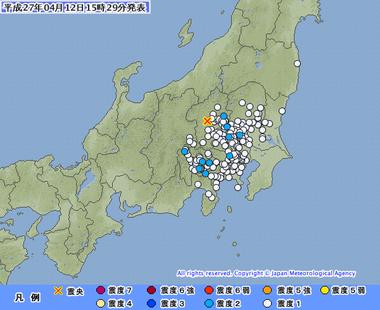 群馬県南部 地震 4月12日