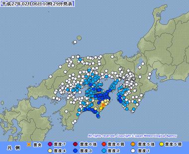 徳島県南部 地震 震度5強