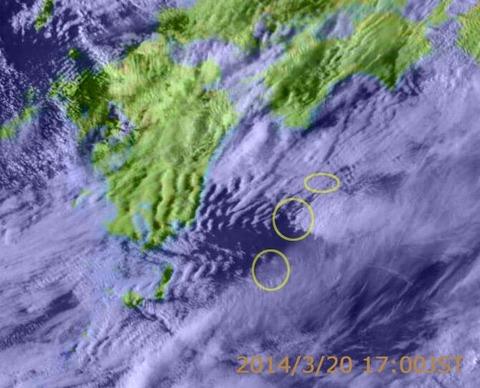 地震雲 九州
