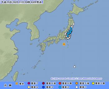 東海道南方沖 異常震域