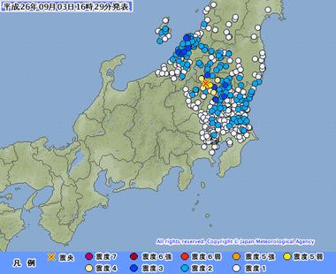 栃木県北部 地震
