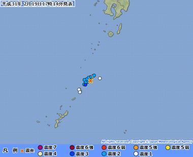 奄美大島近海20190219081453495-19171005