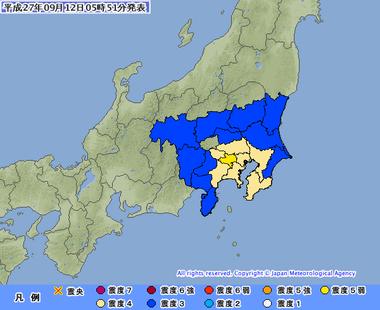 東京湾 地震 9月12日0549