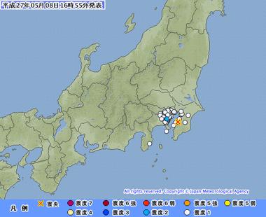千葉県南部地震 5月8日