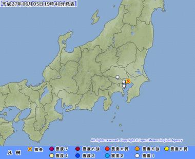 平成27年06月05日19時40分 東京都23区地震