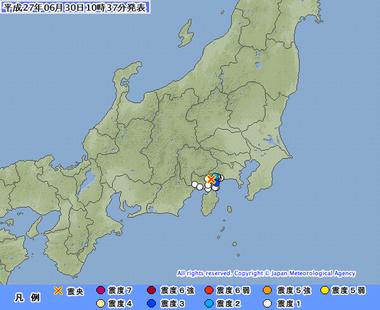 静岡県東部 06301032 地震